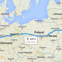 Virtual run from London to Moscow - via Paris, Berlin, Minsk - Day 1 report - 70.5 miles / 2,015 miles