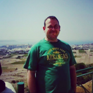 Before I lost weight. This was 2007 in Malta at around 17 stone.