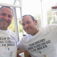 t-5: Go teamUNICORN -LLCR130 - Liverpool to Leeds Canal race